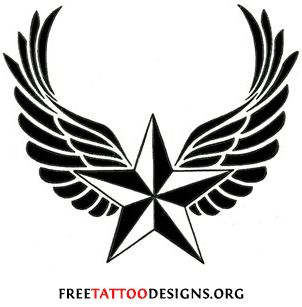 punk star tattoos on wrist with initials | Star Tattoos | Shooting Stars and Nautical Star Tattoo Designs