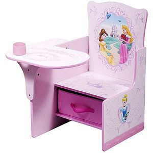 Disney Princess Desk & Chair with Storage Bin a small desk for her coloring & later homework.