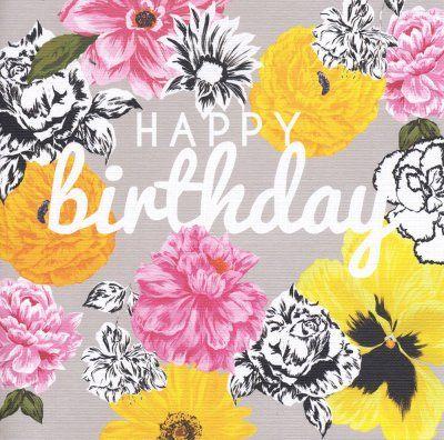 Birthday card - 'Golden Pansy'