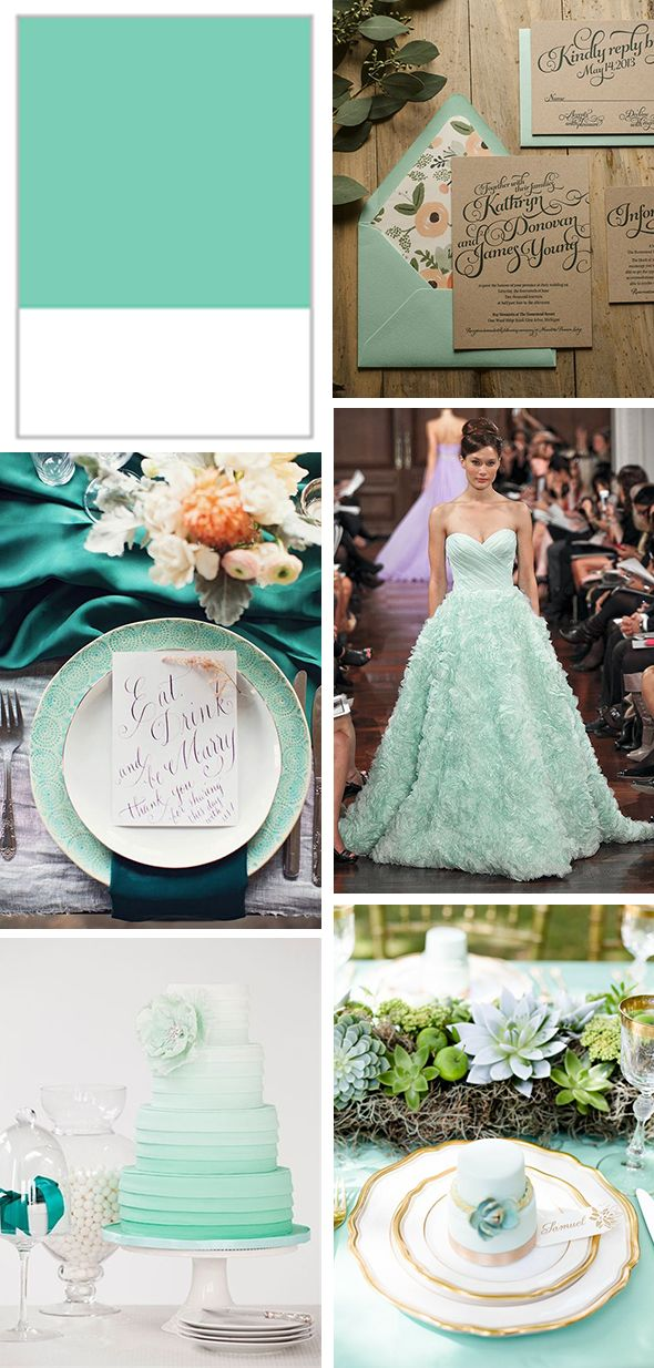 Pantone Spring 2015 Lucite Green Mint Weddings