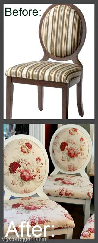 How to Upholster an Oval Back Chair Tutorial