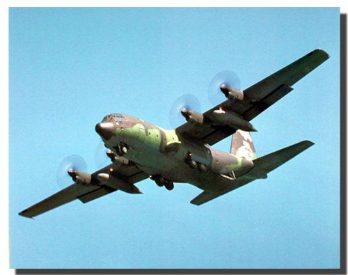 Make your interiors pop out with excitement as you hang this Military C-130 Cargo Airplane aviation art print poster. The C-130 Hercules primarily performs the intra theater portion of the airlift mission. The aircraft is capable of operating from rough, dirt strips and is the prime transport for Para dropping troops and equipment into hostile areas. Order this poster today and enjoy your surroundings.