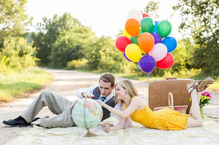 Disney Pixar Up Themed Wedding Shoot | Athens Georgia Wedding Photographer
