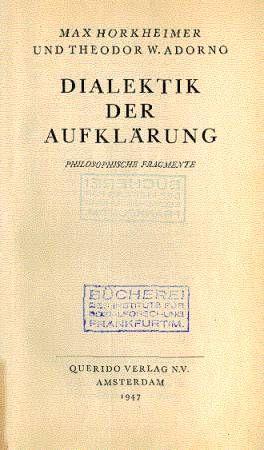 FREIHANDbuch: Theodor W. Adorno / Max Horkheimer - Dialektik der Aufklärung