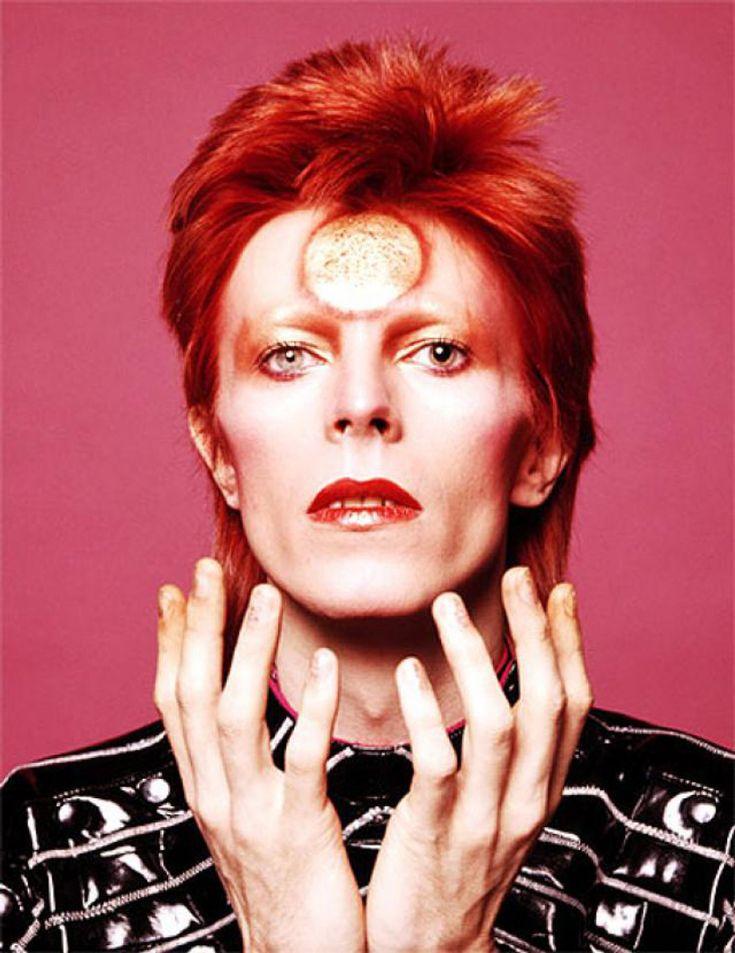 David Bowie Ziggy Stardust sun makeup is one of Dezeen's top David Bowie design moments