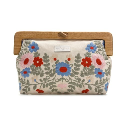 Love this wooden handle clutch - embroidery multi-colour.  Great website for sustainable products