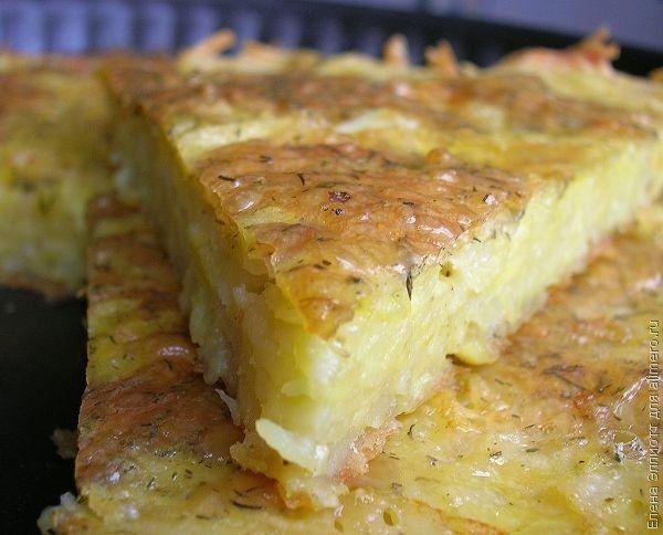 Простые и вкусные рецепты!: Запеканка из тертого картофеля с сыром и чесноком