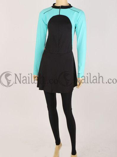 Turqoise / Tosca Simple Baju renang muslim - www.nailah.co