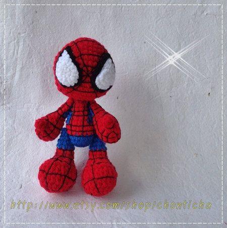 Free Spiderman Amigurumi Crochet Pattern : 22 best images about Crochet - Spiderman on Pinterest ...