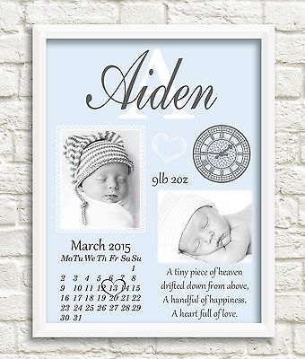 New baby #personalised #print newborn gift, #birth details, christening, nursery , View more on the LINK: http://www.zeppy.io/product/gb/2/182092082717/