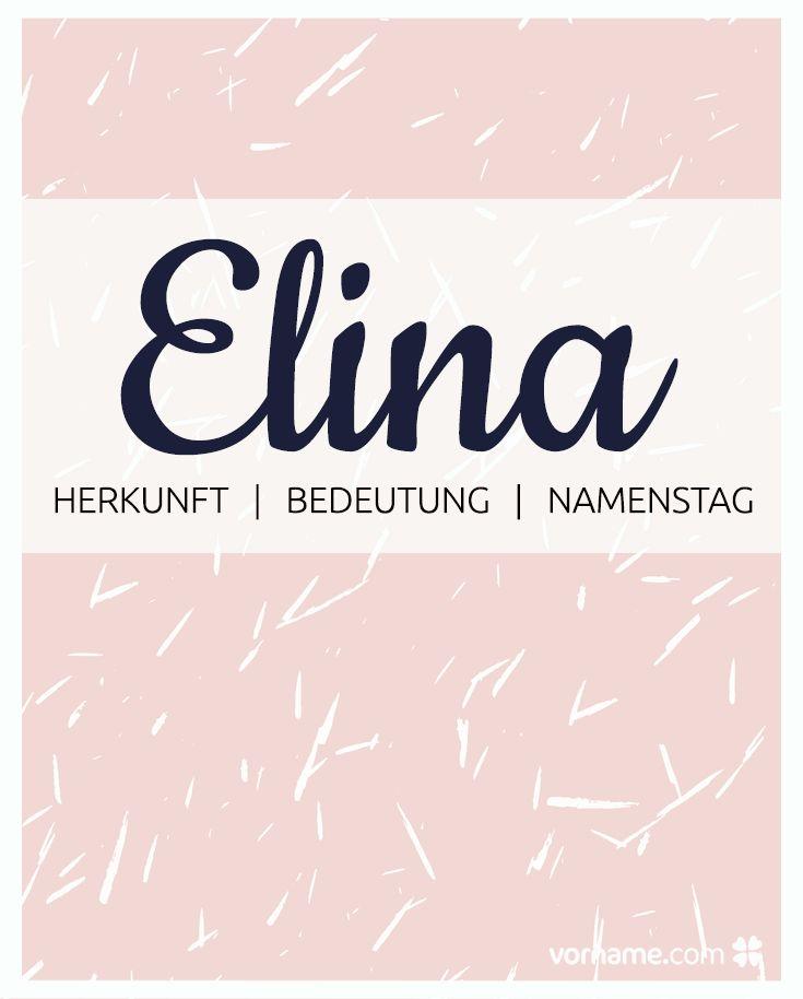 ▷ Vorname Elina: Herkunft, Bedeutung & Namenstag