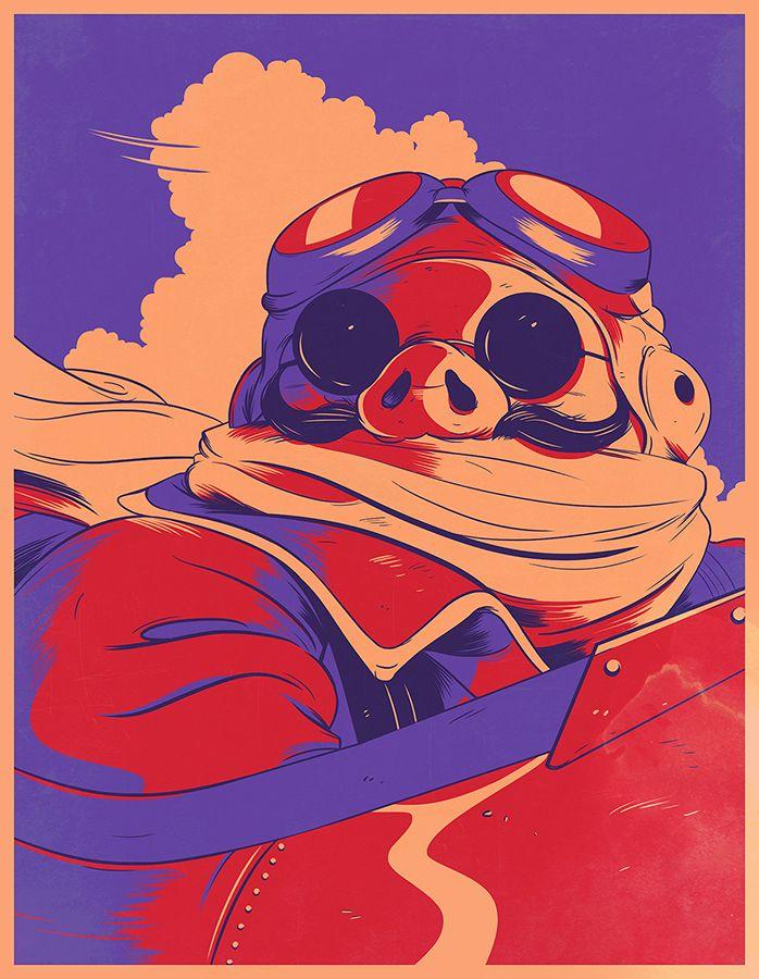 Porco Rosso - Wells Illustration