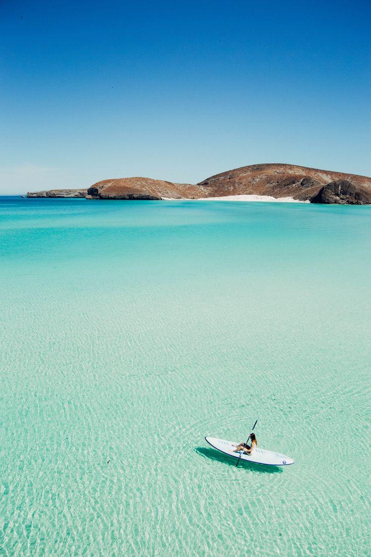 Kayaking at Balandra Beach, Cabo San Lucas in Mexico @nathanpatd  Si si, por favor. Que lindo!!