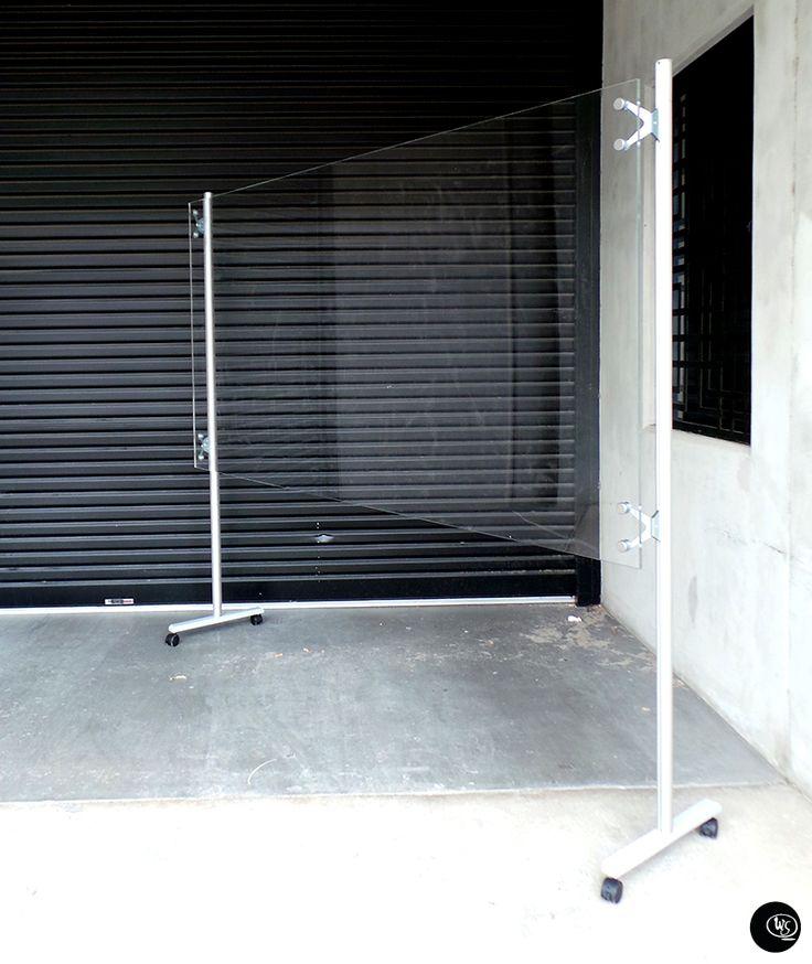 Mobile Whiteboard Clear : Freestanding Wall Scrawl