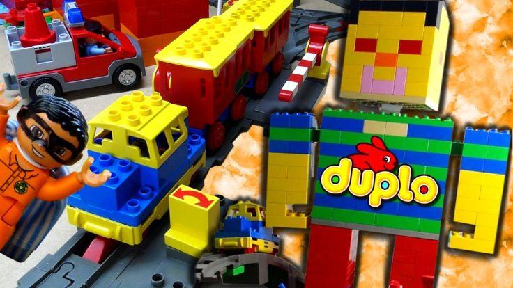 Duplo Village Train toys compilation Lego Duplo Trains in Duplos Vill fu...