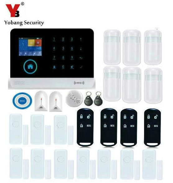 Yobang Security Remote Control Autodial WIFI GSM SMS Alarm With Blue
