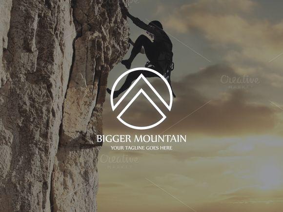 Bigger Mountain Logo by mljstudios on @creativemarket                                                                                                                                                                                 More