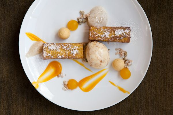Pumpkin French Toast Sticks, Oatmeal Ice Cream and Maple-Room Beer Foam ~ Chef Peter Scarola of R2L