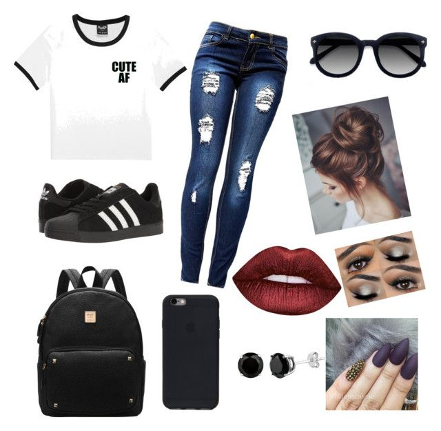 """Casual"" by taylor-008 on Polyvore featuring adidas, Ace and Lime Crime"