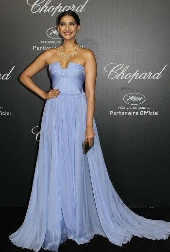 Sonam kapoor in chopard party at cannes 2014. Gown by elie saab