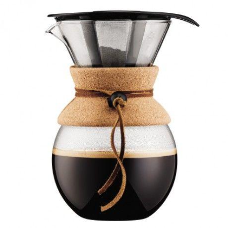 Cafetiere manuelle 1L en verre + filtre liege et cuivre pour over