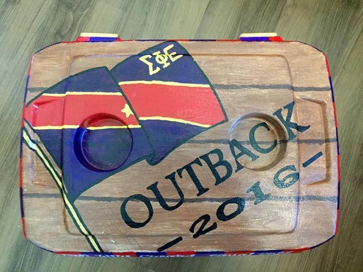 fraternity wood grain cooler spe sigep sigma phi epsilon
