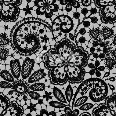 Black Lace Seamless Royalty Free Stock Vector Art Illustration