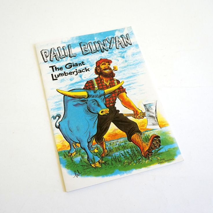 Paul Bunyan The Giant Lumberjack 1968 Pb / Illustrations by Homer Dimmick / Vintage Childrens Book by AttysSproutVintage on Etsy