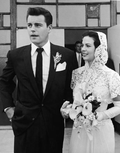 Robert Wagner and Natalie Wood ~ December 1957 (their first wedding)