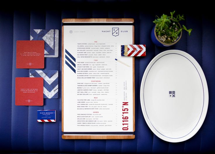 Farm Design created the Santa Monica Yacht Club branding for award-winning chef Andrew Kirschner and his bar focused seafood restaurant centered on handcrafted cocktails and small plates.Branding included identity, website, exterior and interior environ…