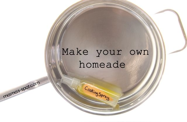 Make your own Homemade Cooking Spray! Cut calories and your grocery bill!