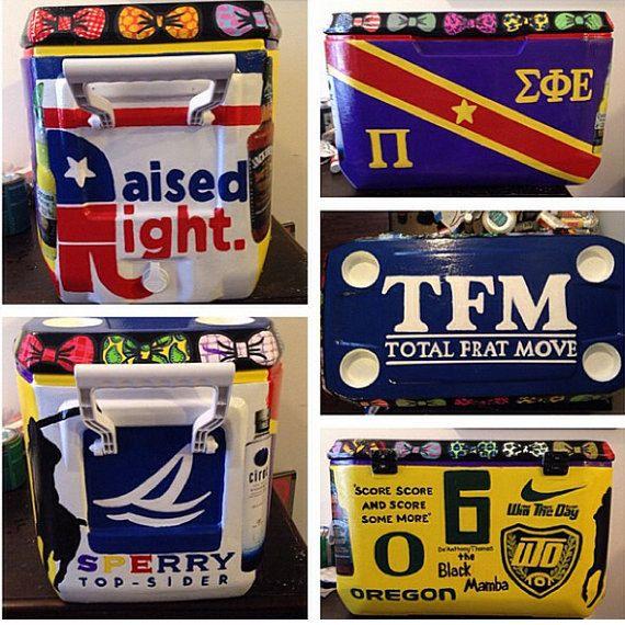 Custom Frat Cooler from Bridget's Craft Shop on Etsy!