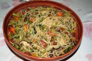 Pour démarrer cette semaine, je vous propose de faire léger, avec des légumes et des nouilles de riz, plus digestes que des nouilles de blé J'ai fait de nombreux wok de légumes ici et vous n'aurez que l'embarras du choix mais pour résumer et faire simple,...