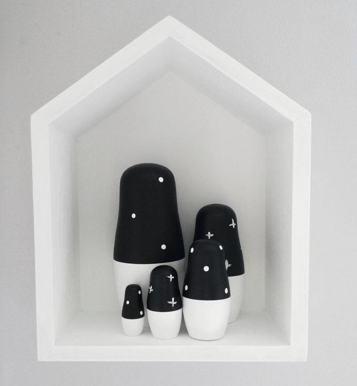 Monochrome Baby Monochrome Nursery Boy Nursery Black And White Nursery Decor Wooden Baby Toys Nesting Dolls Scandi Monochrome Baby Decor by dewleedoll on Etsy https://www.etsy.com/listing/470704683/monochrome-baby-monochrome-nursery-boy