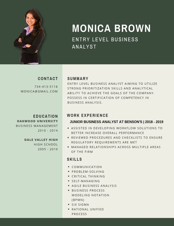 Entry level business analyst resume samples templates