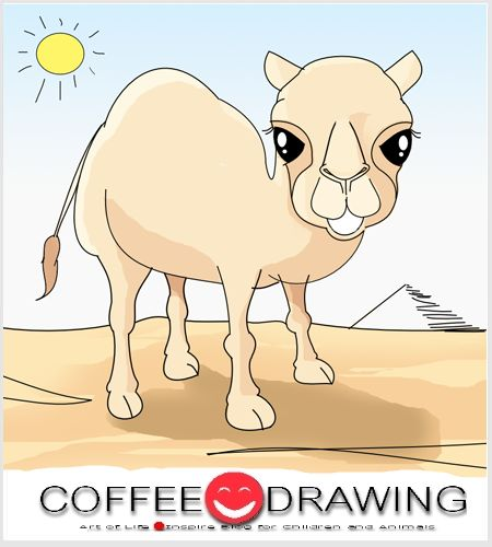 "COFFEE-DRAWING: สอนเด็กวาดรูป PART 62 "" อูฐ ผู้เข้มแข็ง """