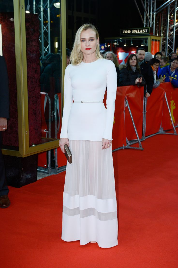 Diane Kruger wears ELIE SAAB PreFall 2014 to the 'The Better Angels' premiere at the 64th Berlin International Film Festival.