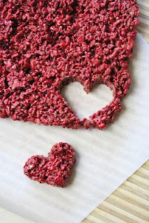 Red Velvet Rice Krispie Treats! perfect for valentines day to give to a loved one.