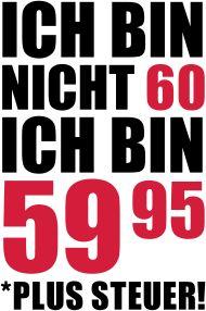 60. Geburtstagsshirt: Ich Bin Nicht 60