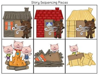 FREE Three Little Pigs Retelling and Story Sequencing Cards