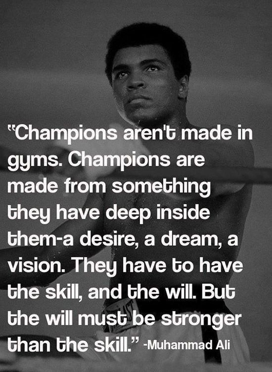 36+ Famous Motivational Muhammad Ali Champ Quotes and sayings                                                                                                                                                                                 More