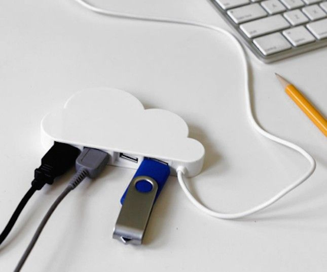 This cloud-shaped charging hub is SO cute!