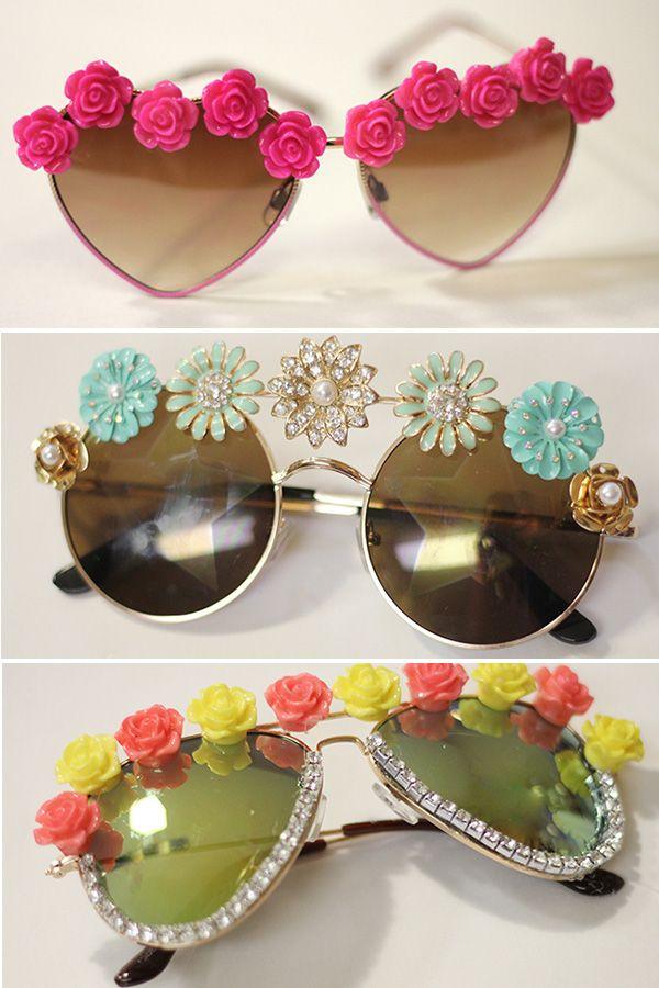 3 DIY tutorials for spring's cutest embellished eyewear! #DIY #SpringStyle