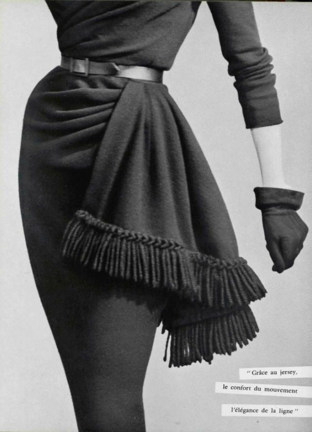 ...Just a small detail...bullion fringe...makes all the difference...Balmain, 1950...