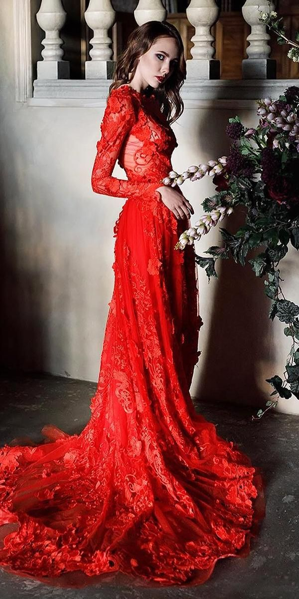 Pin On Red Wedding Dresses