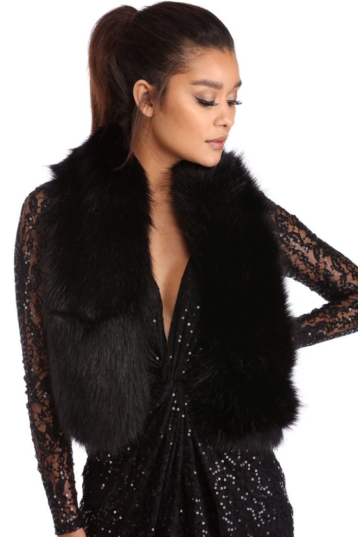 Final Sale- Black Faux Fur Scarf