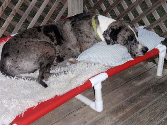 Dog Bed Extra Large Custom Made PVC Dog Cots by dianesk9creations, $174.95