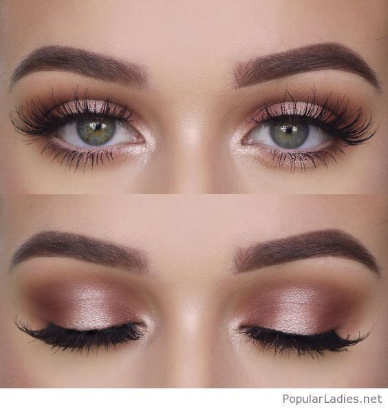 Natural makeup for green eyes #BeautyTipsForMakeup #EyeMakeupVideos