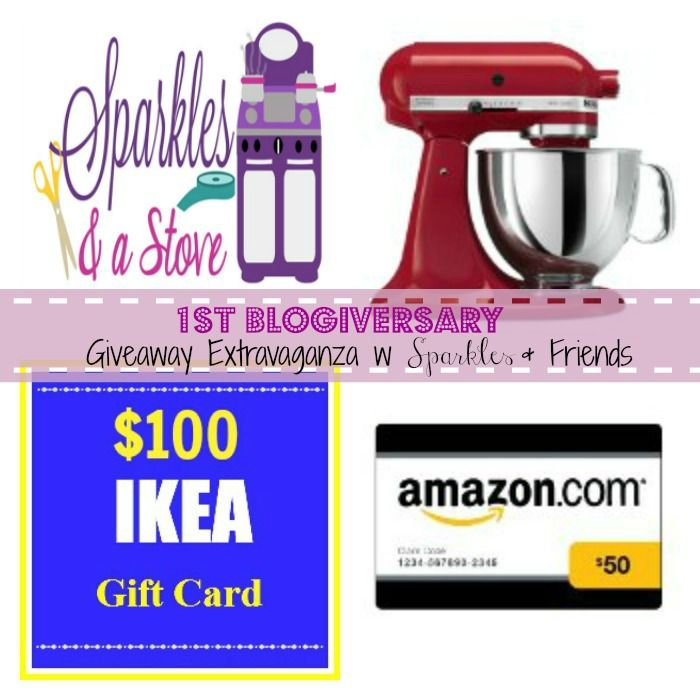 1st blogiversary giveaway extravaganza w sparkles friends 1 kitchen aid mixer 1 100 ikea. Black Bedroom Furniture Sets. Home Design Ideas