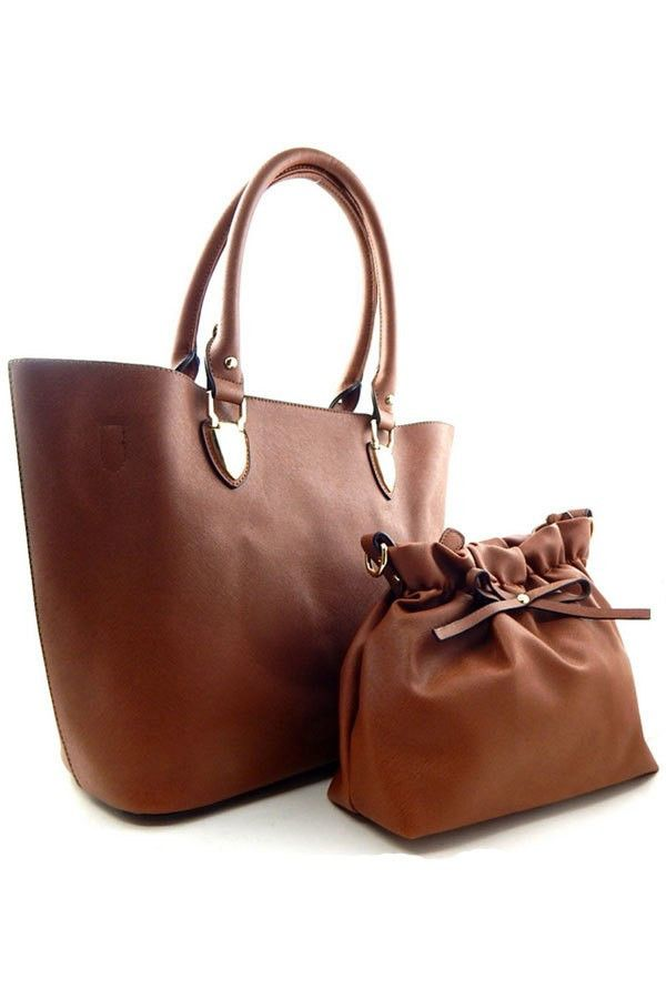 Designer inspired purse with removable interior bag